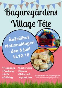 Bagaregårdens Village Fete - Flygblad