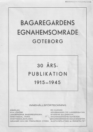 Bagaregårdens Egnahemsområde - cover photo
